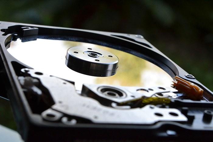 Intérieur d'un disque dur