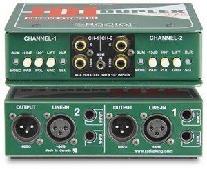 La boîte de direct passive stéréo JDI Duplex