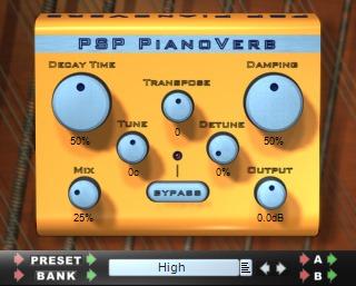 Le plugin de Réverbe Pianoverb de PSP Audioware