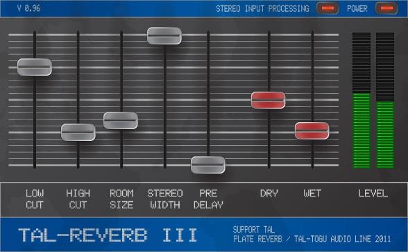 Plugin Reverb 3 de TAL