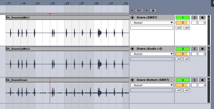 Nommez vos pistes et indiquez le nom du microphone