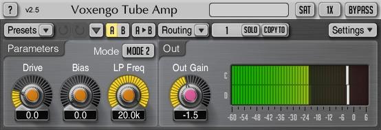 Plugin Tube Amp de Voxengo