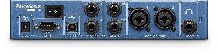 PreSonus Studio 68 - Face arrière