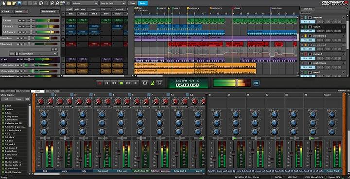 Capture d'écran de Mixcraft 8 Pro Studio