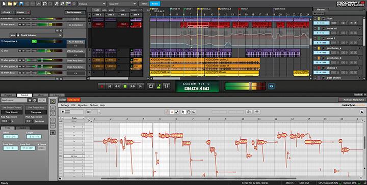 Melodyne est intégré à Mixcraft 8