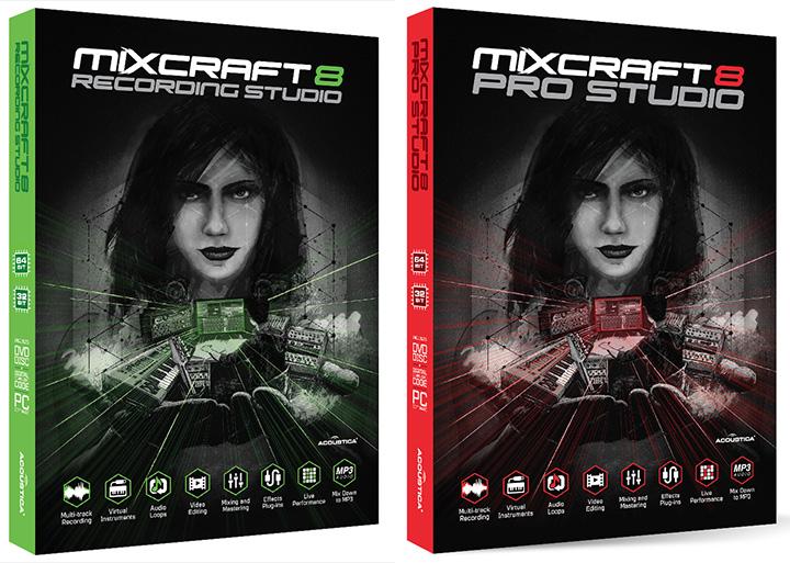 Les deux version de Mixcraft 8