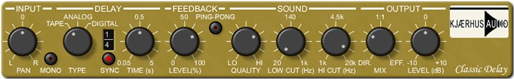 Le plugin Classic Delay de Kjaerhus Audio