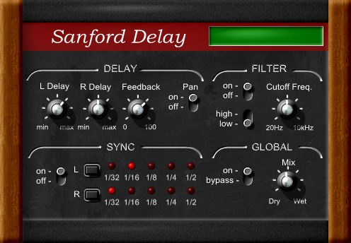 Le plugin Sanford Delay de Leslie Sanford