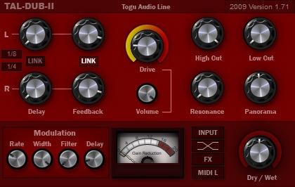 Le plugin TAL Dub 2 de Togu Audio Line