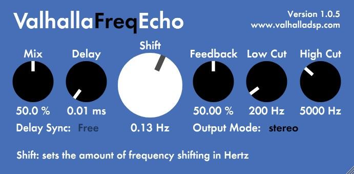 Le plugin Freq Echo de ValhallaDSP
