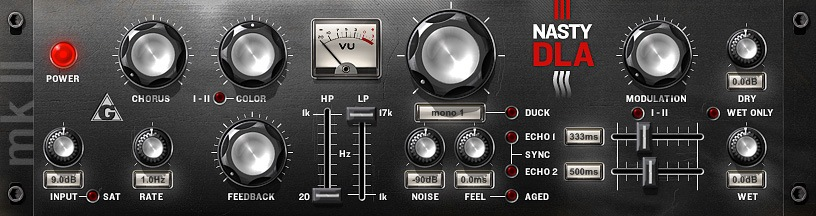 Le plugin de delay NastyDLA mkII de Variety of Sound