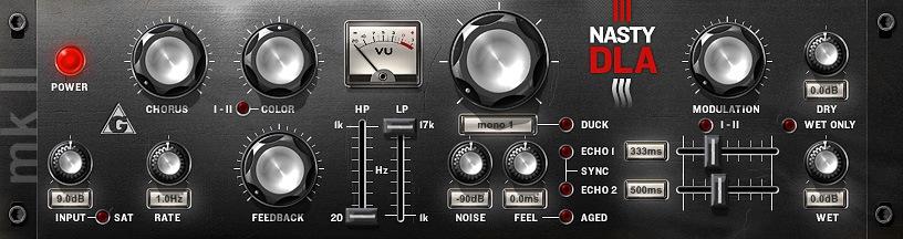 Le plugin de delay NastyDLA mkII de Variety of Sound