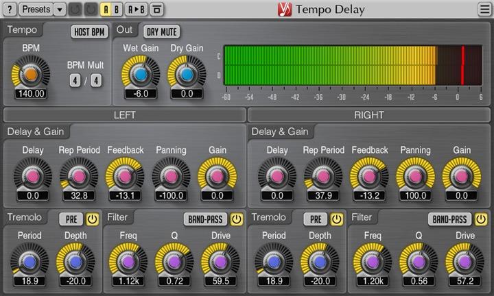 Le plugin Tempo Delay de Voxengo