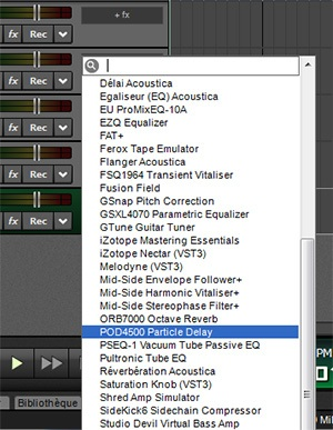 Les plugins d'effets de Mixcraft