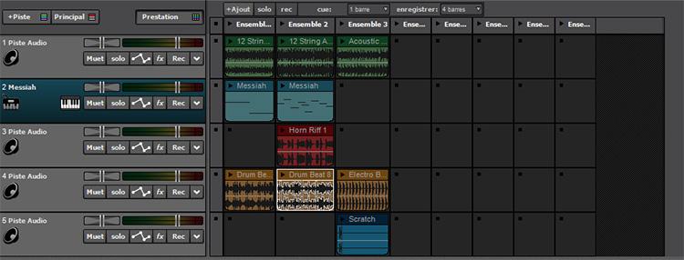 Mode Prestation dans Mixcraft 8