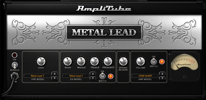 L'ampli Metal Lead T d'AmpliTube 4