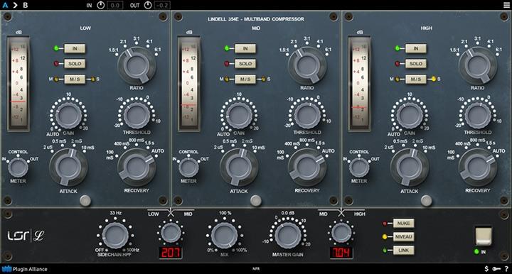 Le compresseur multibande 354E de Lindell Audio