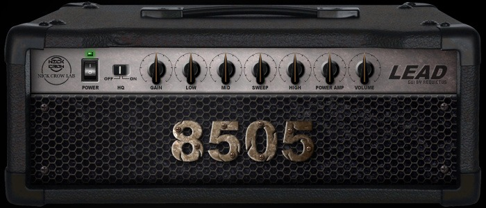 Le simulateur d'ampli guitare 8505 de Nick Crow