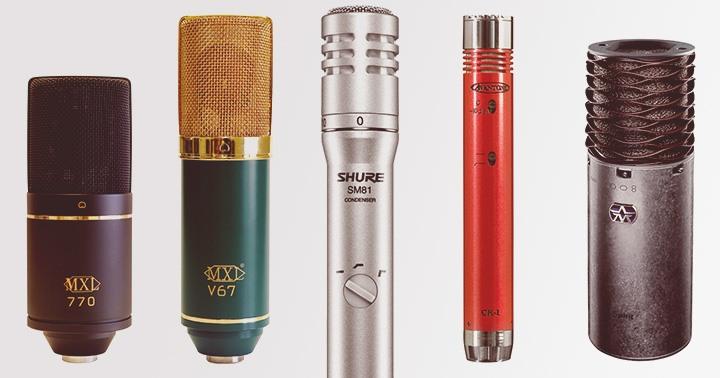Exemples de microphones pour guitare acoustique