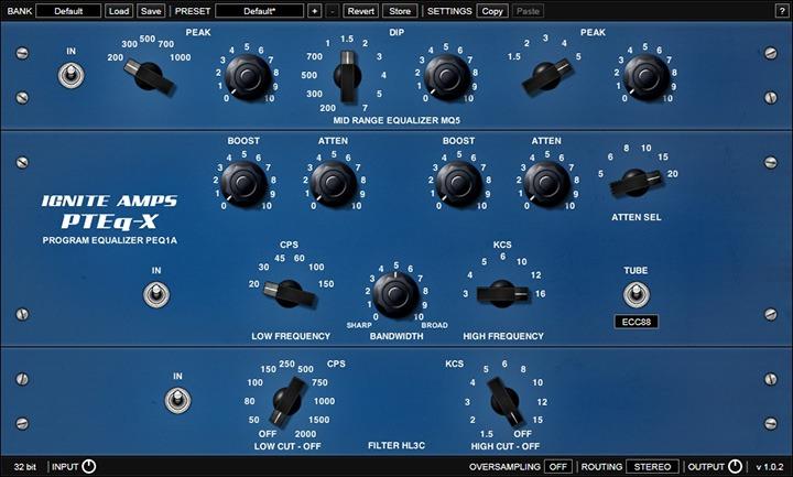 Le plugin d'égalisation PTEq-X d'Ignite Amps