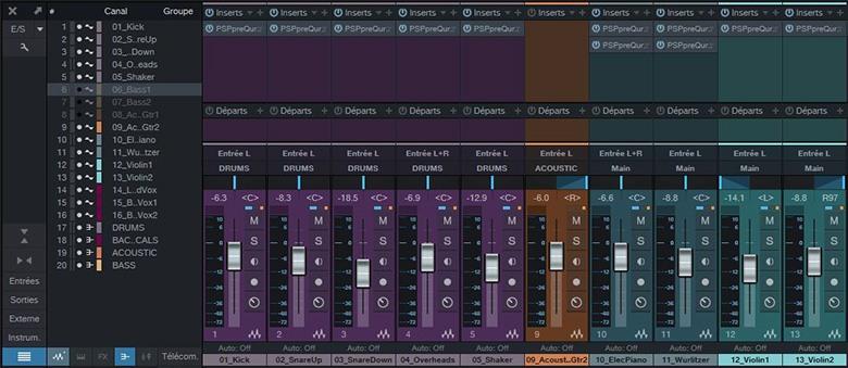 La console de Studio One 3.5