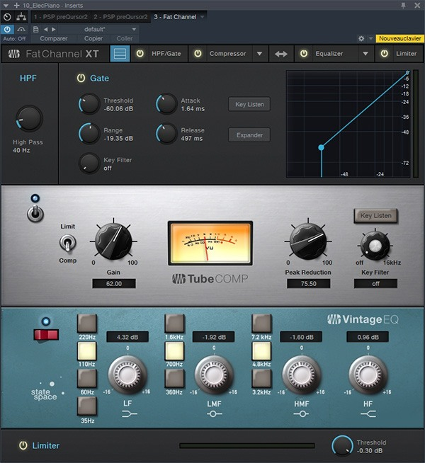 Le plugin Fat Channel XT sur Studio One 3.5