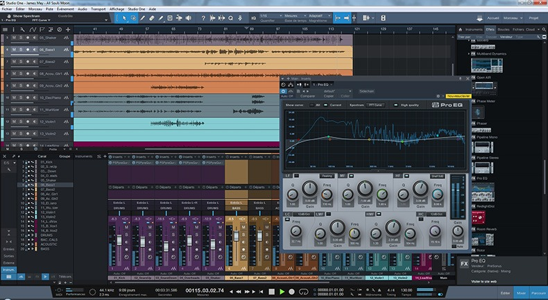 L'interface de Studio One 3.5