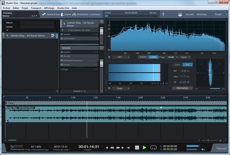 Exemple de Projet dans Studio One