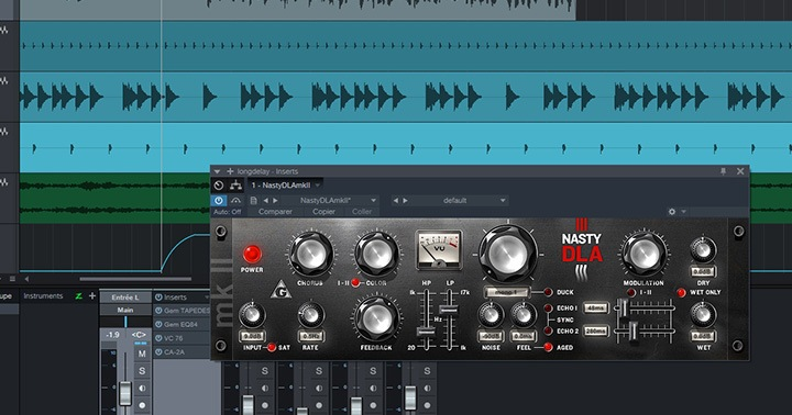 Exemple de mixage avec un delay