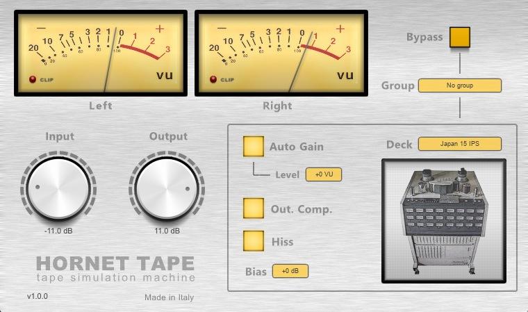 L'interface de HoRNet Tape