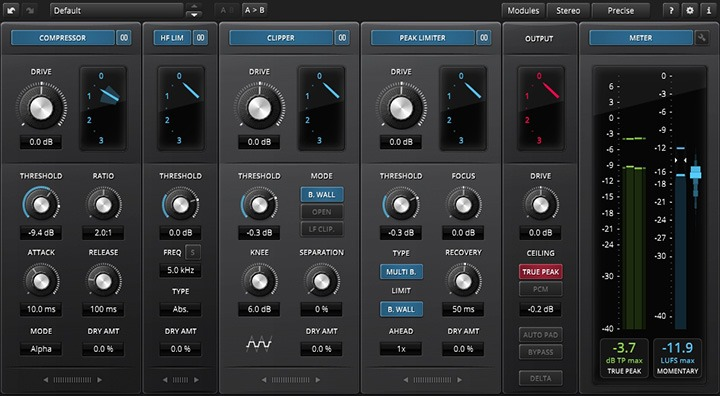 L'interface de Limiter 6 GE