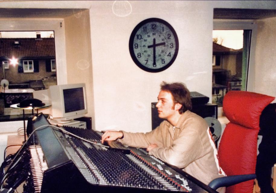 Dirk Ulrich en Studio dans les années 90