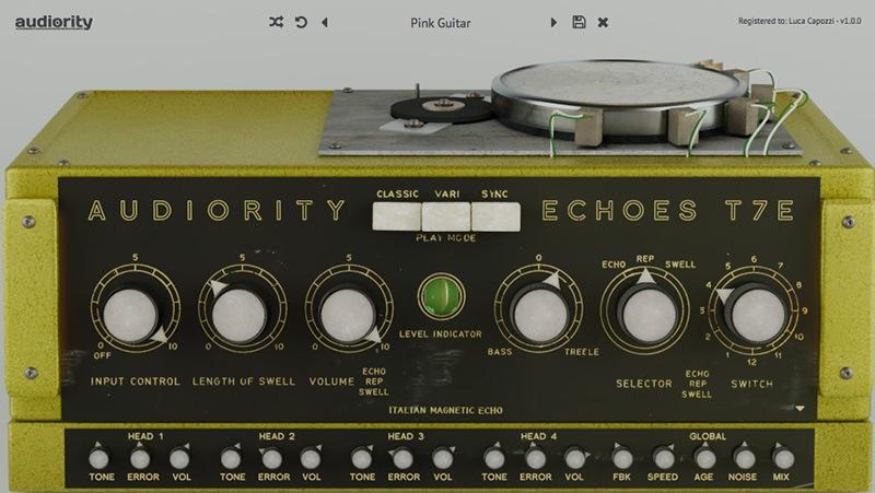 L'interface d'Echoes T7E