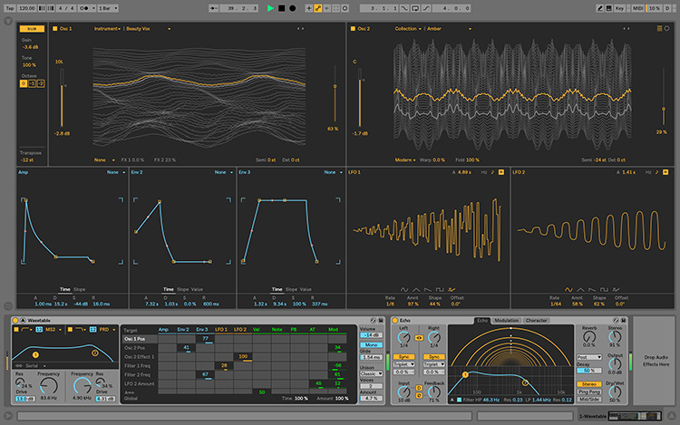 L'instrument Wavetable d'Ableton Live 10