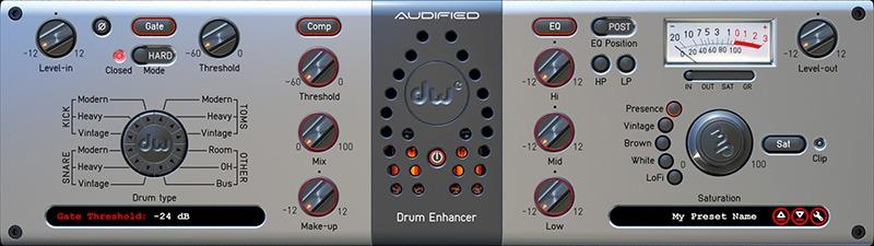 Le plugin DW Drum Enhancer d'Audified
