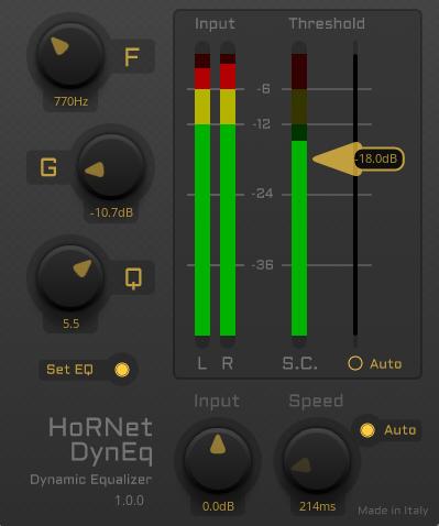 L'interface de DynEQ