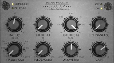 L'interface du plugin Speculum