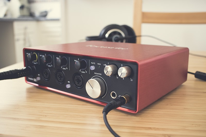 L'interface audio USB Focusrite Scarlett 18i8