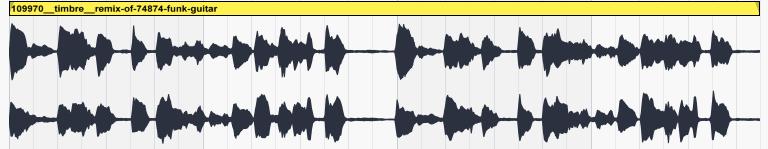 Exemple d'une guitare funk non compressée