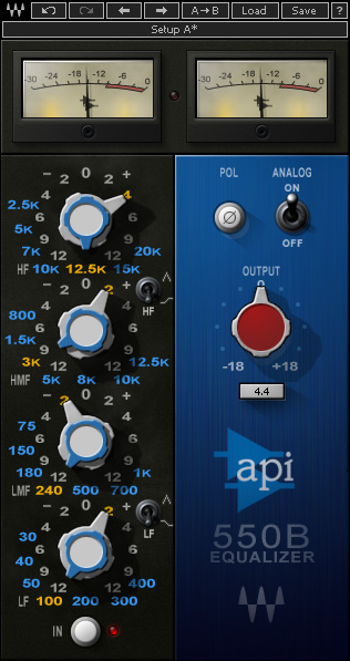 Le plugin API 550B de Waves