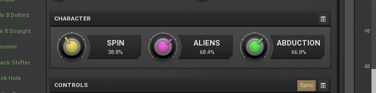 """Le preset """"UFO"""" de MSpectralDelay"""