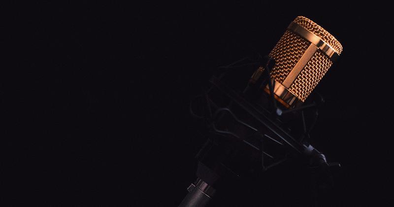 Un microphone de studio