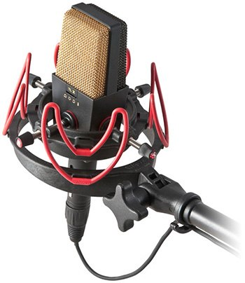 Une suspension de microphone de studio