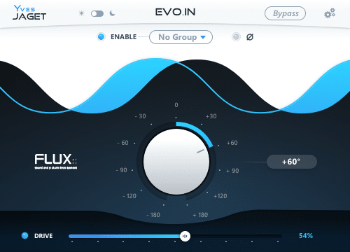 L'interface d'Evo In de Flux::