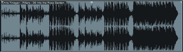 Forme d'onde après le mastering audio