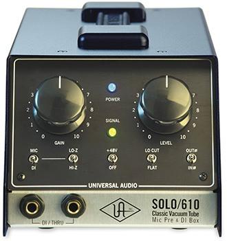 Le préampli à lampe Solo 610 d'Universal Audio