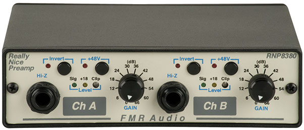 Le préampli micro Really Nice Preamp de FMR