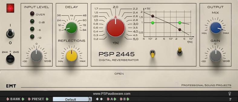 L'interface de PSP 2445