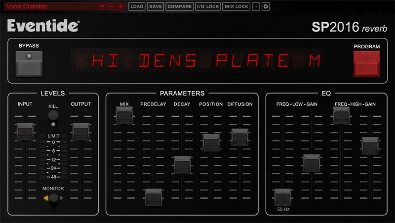L'interface de SP2016 d'Eventide