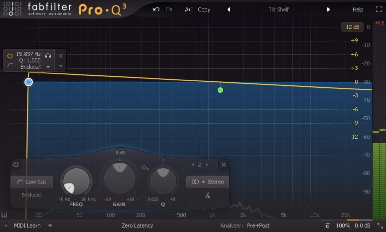 Filtres de Pro-Q 3